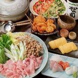 お鍋のコースは飲み放題付で5,000円!ご宴会に一押しです!