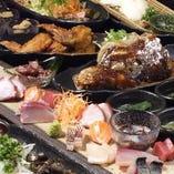 【2時間飲み放題付】九州近海で採れた豪華刺盛り付きお手軽コース<全10品>