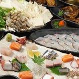 【2時間飲み放題付】寄せ鍋と海鮮コース<全10品>