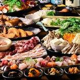 【2時間飲み放題付】特選 地鶏鍋と海鮮コース<全10品>
