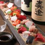 【新鮮素材】 長浜市場直送で仕入れる旬の鮮魚はお刺身で♪