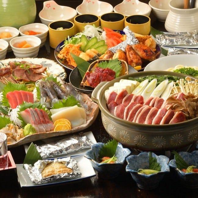 ひとくちの宴会コース!新鮮な目利き魚介と旬の食材を堪能!