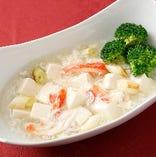 蟹肉と豆腐の塩煮込み