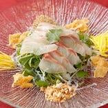 鮮魚の中華風カルパッチョ