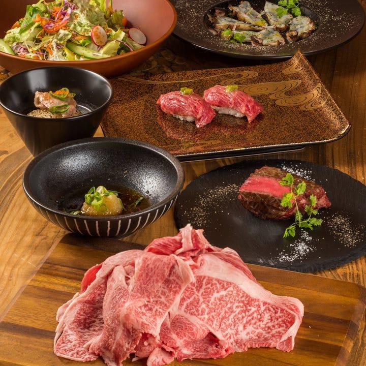 米沢牛のすきしゃぶを堪能するなら12,000円(税込)コース!