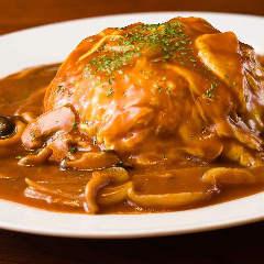 きのこオムライスセット(スープ・サラダ付)