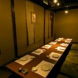 【掘りごたつ完全個室:8~12名様】部署やチームごとの中規模宴会に最適。