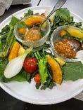 中里自然農園の旬の温野菜 柚子味噌のディップ