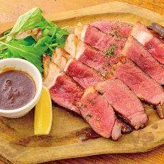 十勝牛のサーロインステーキ