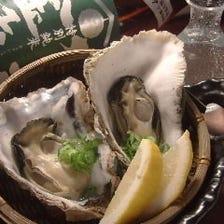 殻付き蒸し牡蠣