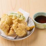 三河赤鶏の天ぷら