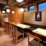 酒×肴×和モダン空間でくつろぎ宴会【テーブル席(4名様×4卓/最大16名様まで】