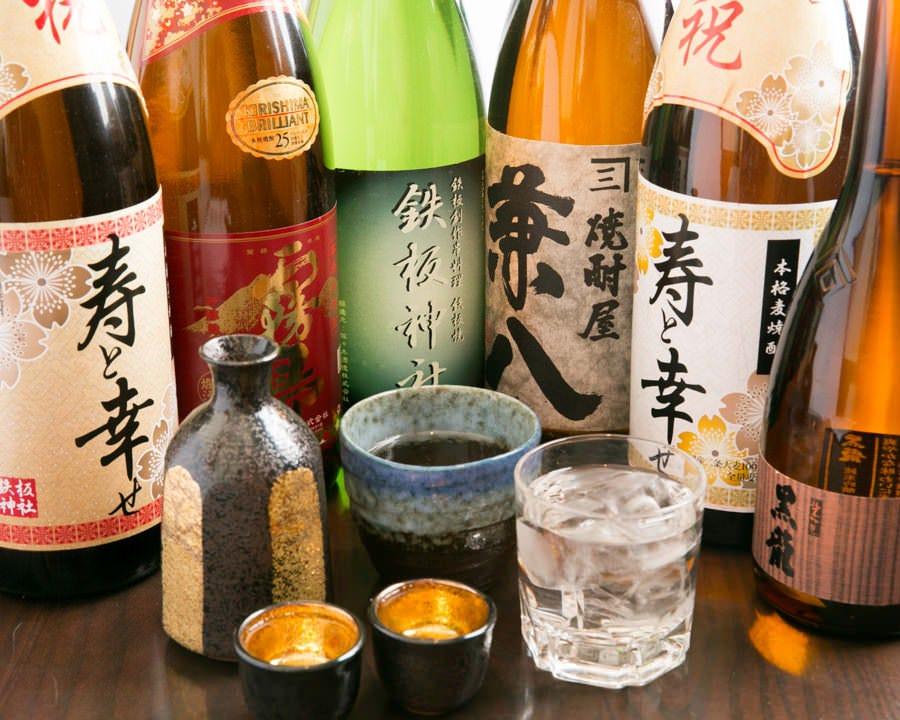 もちろん日本酒や焼酎も有り! オリジナルの日本酒も♪