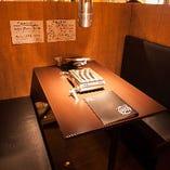 BOXタイプのテーブル席もご用意しております