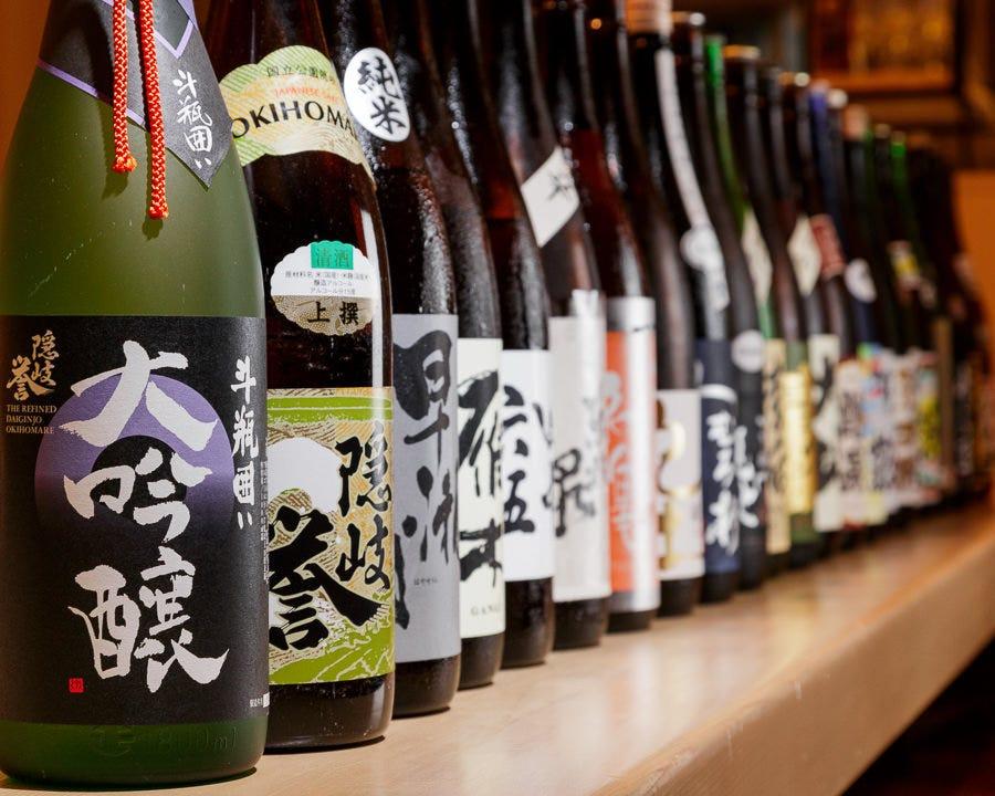 日本酒の取り揃えが豊富