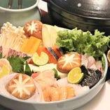 7種の魚介と鶏肉の寄せ鍋コース