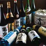 四国の日本酒、焼酎、ワイン、地サイダー他、様々なお酒をご用意してお待ちしております。