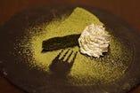 自家製宇治抹茶のガトーショコラ