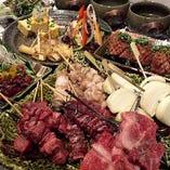 【和牛串】 牛串は部位ごとに味を変えて1本ずつご提供!
