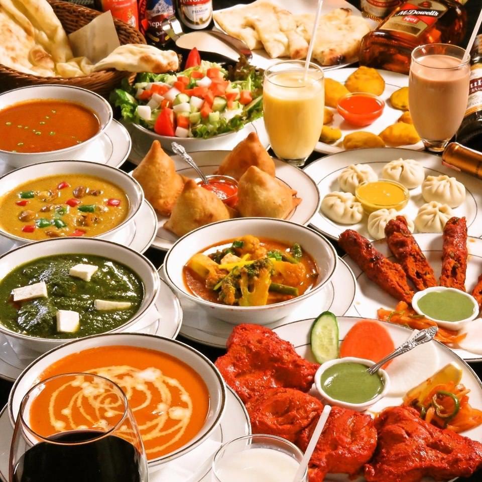 オススメ宴会パーティーコース【2時間半食べ放題.飲み放題】飲み物48品.料理16品.チーズナンも食べられます