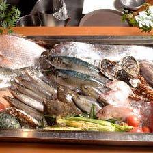 産地直送の鮮魚・野菜が自慢
