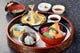 竜宮膳(酢飯)。海鮮丼と天ぷらのセット。
