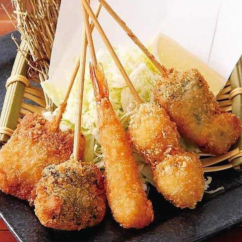 串カツや水炊きなどをお楽しみ頂けるお得なコースご用意♪