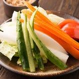季節野菜の盛り合わせ~自家製肉味噌