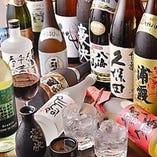 ドリンクの種類も豊富です!全国各地の地酒を多数ご用意!