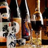ビールやサワーもいいですが、 酒豪さんにおすすめしたい、秩父の地酒やワインも揃っています!