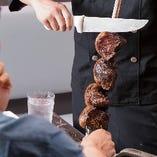 じっくりと焼き上げた香ばしいお肉を思う存分お召し上がりいただけます!