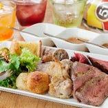 満腹になったらコースターを「ストップ」に! 表のままにしておくとスタッフがどしどし肉を運んできます☆