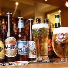 オーナー厳選!ビール25種以上常備