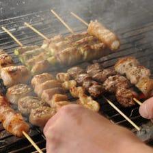 岩手県産鶏を使った焼き鳥