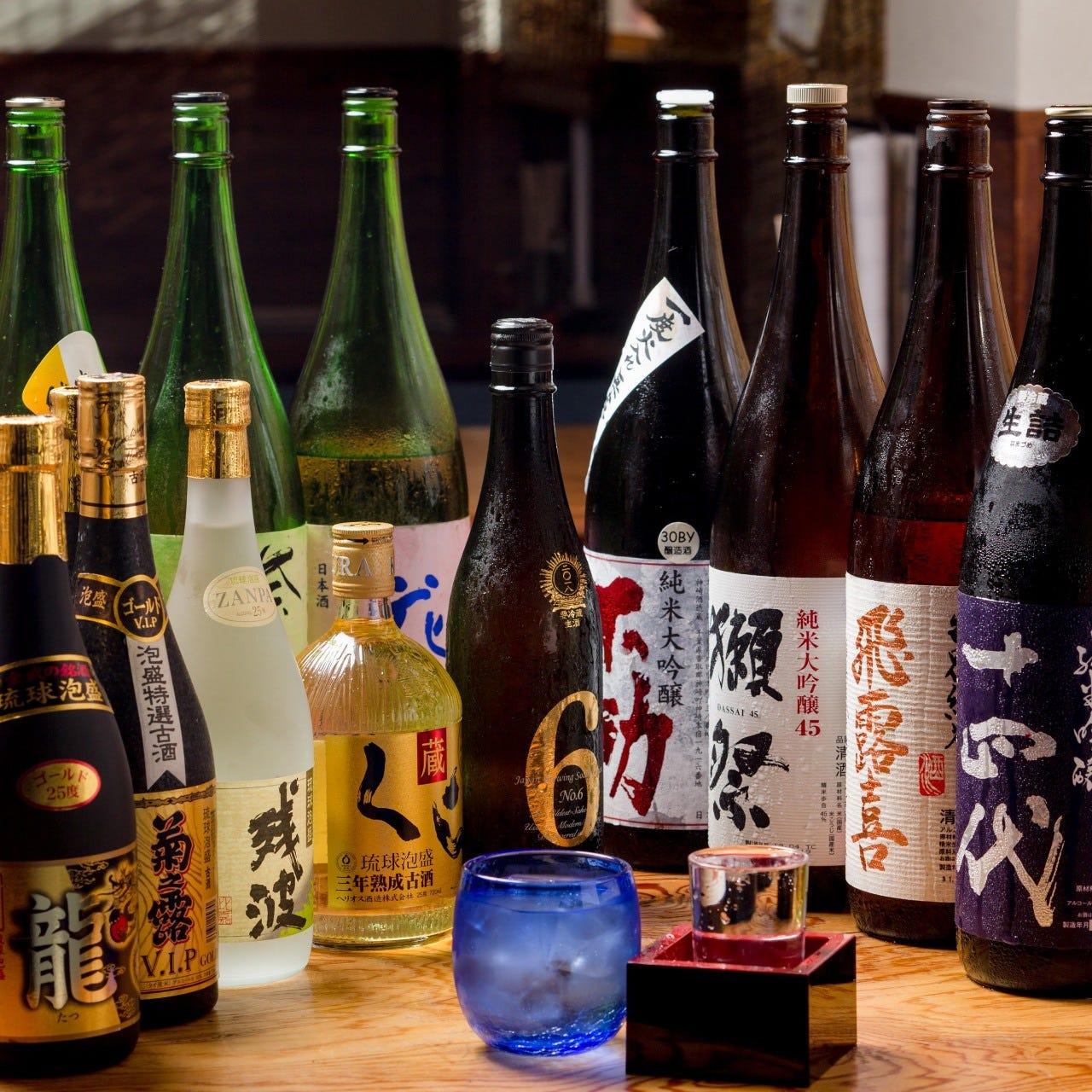 種類豊富!日本酒に泡盛・果実酒も