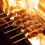 こだわりの備長炭で焼くやきとんは絶品!ぜひご賞味ください!