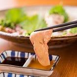 【日替わりの鶏刺し】 ささみやレバーなどを盛り合わせでご用意