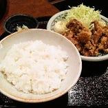 鶏もも肉 唐揚げ定食(香・みそ汁付)