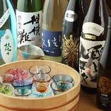 魚介をはじめとした、料理に合う全国各地の地酒を全15種類厳選