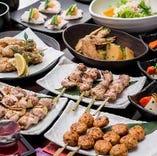 【飲み会・接待に】燦鶏のコースは逸品料理揃いでコスパ◎