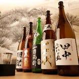 地酒は厳選したものを約10種類ご用意。数量限定ものもございます