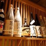 焼酎は鹿児島県産のものを中心に取り揃えて。特に芋が人気です