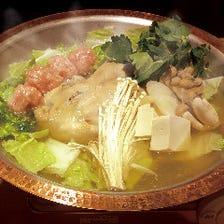 丸鶏鍋 つくね入りあっさりポン酢 ~薬味葱・もみじおろし付~