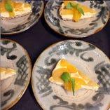 杏(あんず)のチーズケーキ