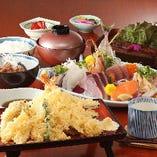 恵比寿三昧御膳*ミニ懐石料理(満腹間違い無しの)御膳は お祝い事や仏事等にもご利用いただけます。