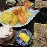 特大ジャンボ海老の天婦羅(2本付き)蕎麦