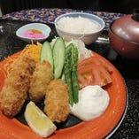 (サクサク熱々美味し)広島産カキフライ御膳