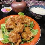 自家製 国産鶏のオリジナルあんかけの唐揚げ御膳
