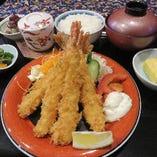 大ぶり海老フライ(5本)御膳サクサク熱々美味しい御膳