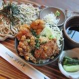 ミニ丼セット(ざるそば・かけそば)